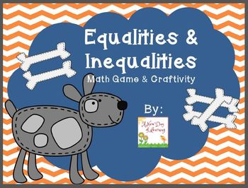 Equalities and Inequalities Math Game and Craftivity