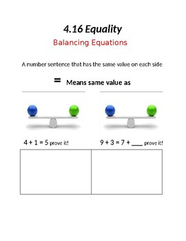 Equality Anchor Chart
