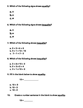 Equality Assessment