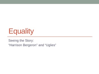 Equality LP using 'Harrison Bergeron' and 'Uglies'