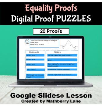 Equality Proof Puzzles DIGITAL Activity Google Slides - Sc