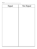 Equality Sort (Addition and Subtraction)