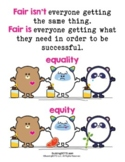 What is Fair? Equality vs Equity Poster