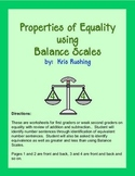 Equality with Balance Scales