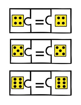 Equals Matching Dice -File Folder
