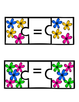 Equals Matching Spring Flowers -File Folder