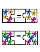 Equals Matching Spring Flowers -File Folder