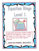 Equation Bingo - Level 1