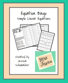 Equation Bingo - Simple Linear Equations