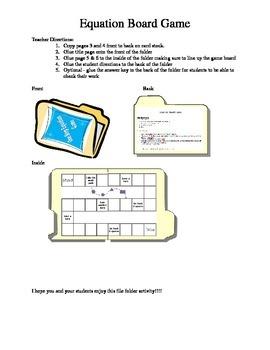 Equation Board Games Set