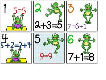 Calendar Date Cards - Equation Type