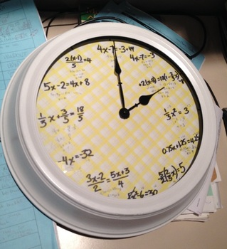Equation Clocks Rich Assessment Task By Calfordmath Tpt