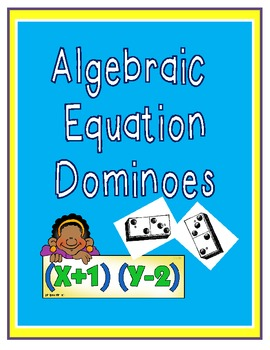 Equation Dominoes for Algebra:  Matching equations to math word problems