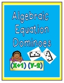 Equation Dominoes for Algebra:  Matching equations to math