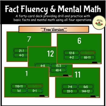 Math Matches Freebie - Fact Fluency and Critical Thinking