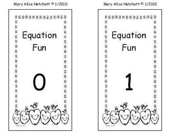 Equation Fun card game