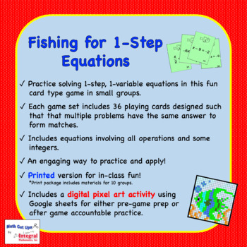 Fishing for One-Step Equations