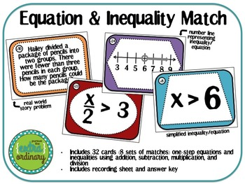 Equation & Inequality Match