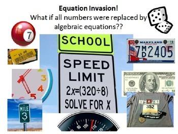 Equation Invasion 6.EE.6/6.EE.7