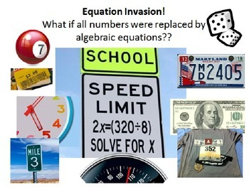 Equation Invasion 6.EE.6/6.EE.7