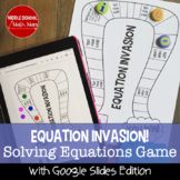 Equation Invasion! A Solving Equations Board Game
