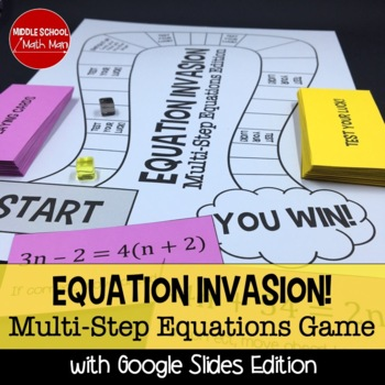 Equation Invasion! A Solving Equations Board Game (Multi-Step Equations Edition)