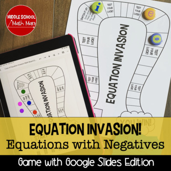Equation Invasion! A Solving Equations Board Game (Negative Number Edition)