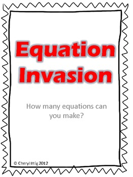 Equation Invasion - Math Fluency Game