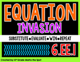 Equation Invasion: Substituting & Evaluating Expressions Game CCSS 6.EE.1