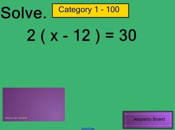 Equation Jeopardy