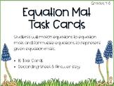 Equation Mat Task Cards