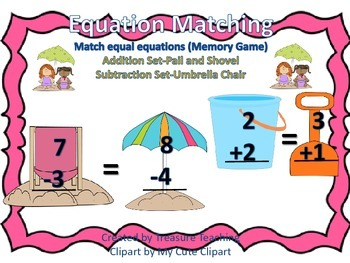 Equation Matching Math Center or Whole Group Activity