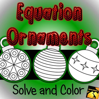 Equation Ornaments: Solve and Color