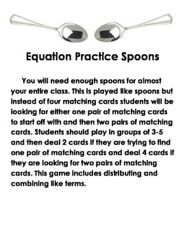 Equation Practice Spoons