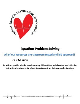 Equation Problem Solving