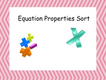 Equation Property Match