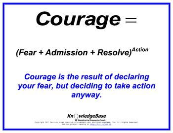 "Equation Proverbs: ""Courage"" Poster"