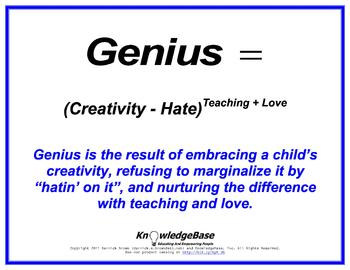"Equation Proverbs: ""Genius"" Poster"