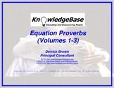 "Equation Proverbs: Volumes 1-3 (Character Education Posters) (""LITE"" Version)"
