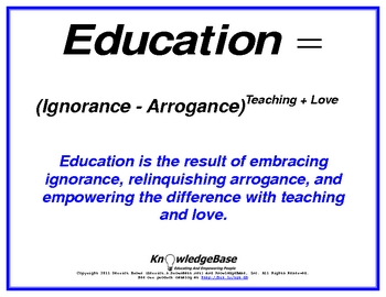 """Equation Proverbs: Volumes 1-3 (Character Education Posters) (""""LITE"""" Version)"""