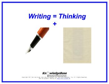 "Equation Proverbs: ""Writing"" Poster"