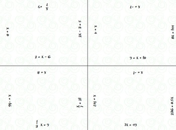 Equation Puzzler - One- & Two-Step Equations