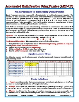 Equation Puzzles and Games by The STEM-LA Initiative (AMP-UP)