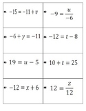 Equation Relay (solving 2-step equations)