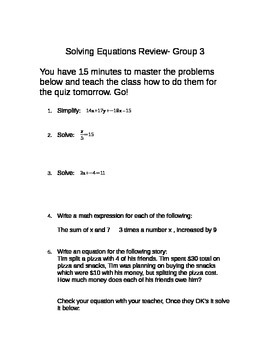 Equation Review Bundle