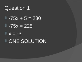Equation Review Game Powerpoint