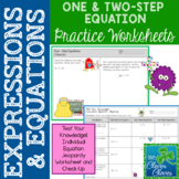 One and Two - Step Equation Practice