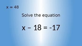 Equation Review Scavenger Hunt