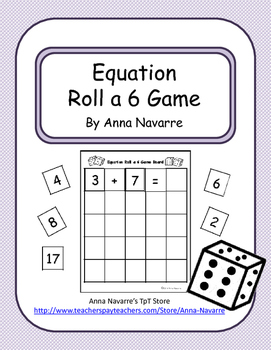Equation Roll 6 Game