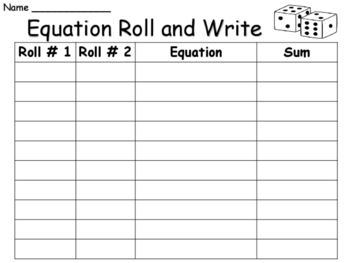 Equation Roll and Write